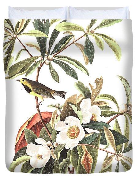 Bachman's Warbler  Duvet Cover by John James Audubon