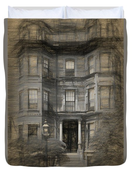 Back Bay Boston Duvet Cover