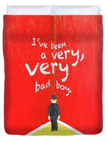 Bad Boy Greeting Card Duvet Cover