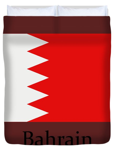 Bahrain Flag Duvet Cover