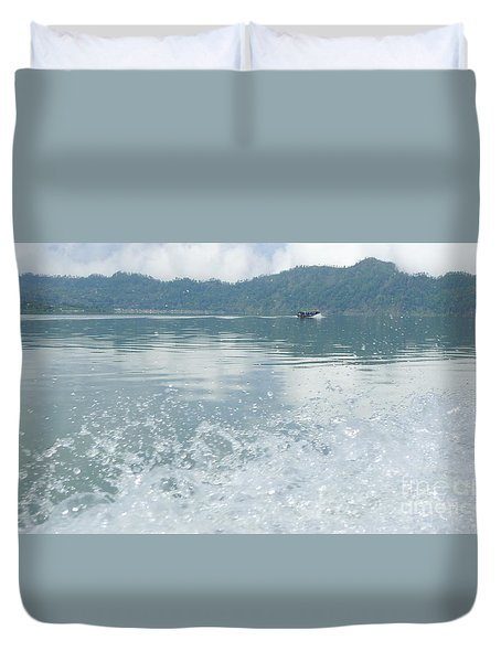 Duvet Cover featuring the photograph Bali River  by Nora Boghossian