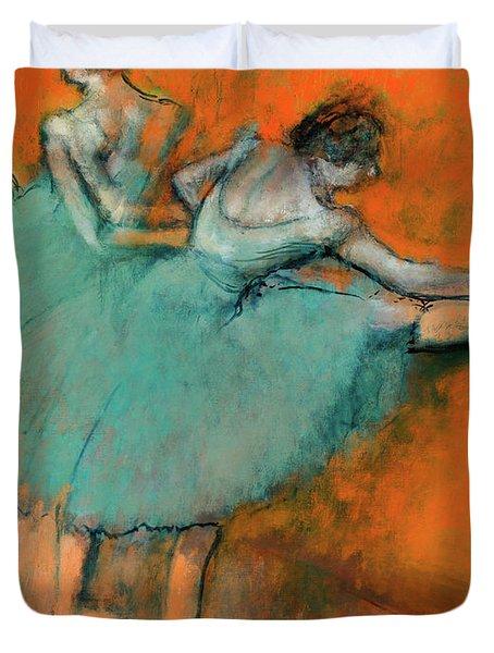 Ballerinas At The Bar Duvet Cover