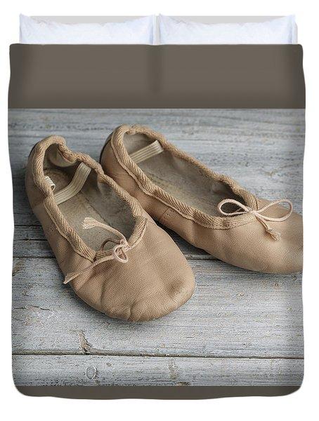 Ballet Shoes Duvet Cover by Nailia Schwarz