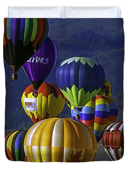 Balloons Over Reno Duvet Cover