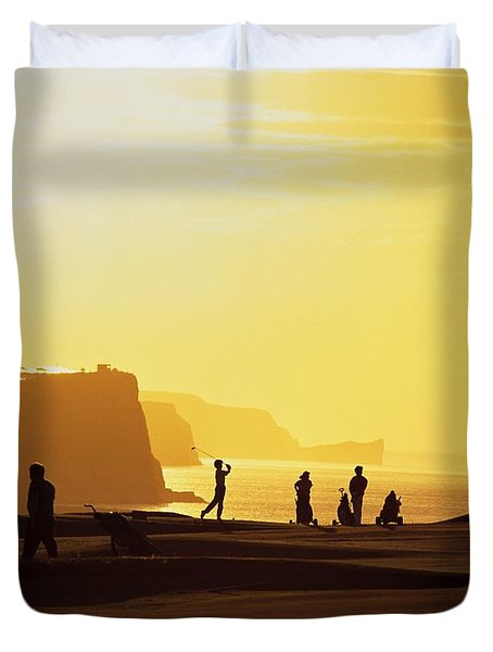 Ballycastle Golf Club, Co Antrim Duvet Cover by The Irish Image Collection