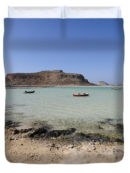 Balos Beach Duvet Cover