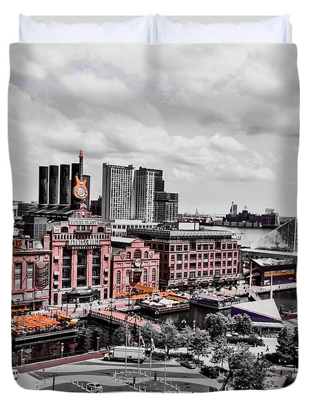 Baltimore Power Plant Duvet Cover