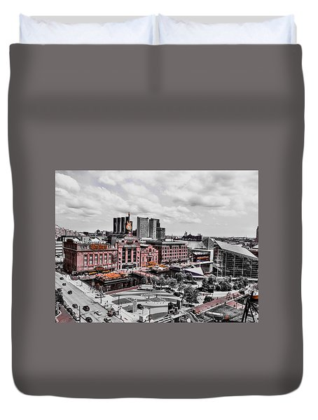 Baltimore Power Plant Duvet Cover