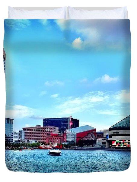 Baltimore's Inner Harbor Duvet Cover