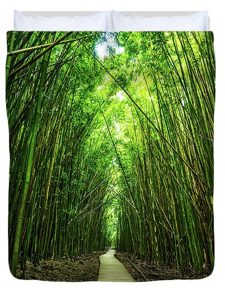 Bamboo Forest Duvet Cover