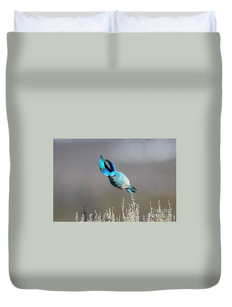Duvet Cover featuring the photograph Bank Right by Mike Dawson