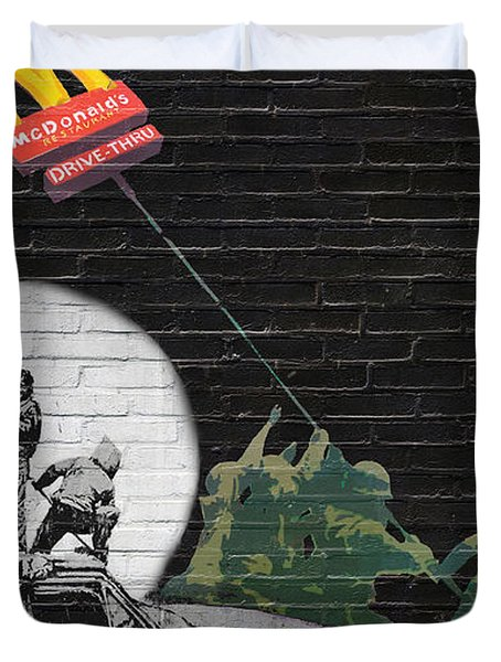 Banksy - The Tribute - New World Order Duvet Cover
