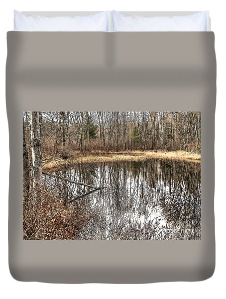 Duvet Cover featuring the photograph Bare Bones by Betsy Zimmerli