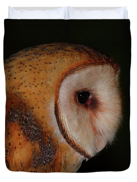 Barn Owl Profile Duvet Cover