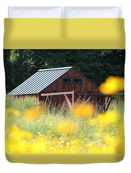 Barn Stony Brook New York Duvet Cover