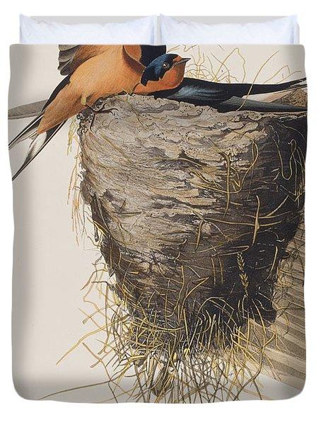 Barn Swallow Duvet Cover by John James Audubon