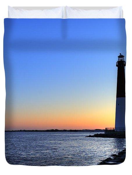 Barnegat Lighthouse Duvet Cover by John Greim