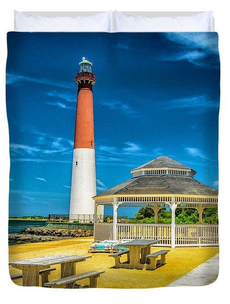 Barnegat Lighthouse Park Duvet Cover