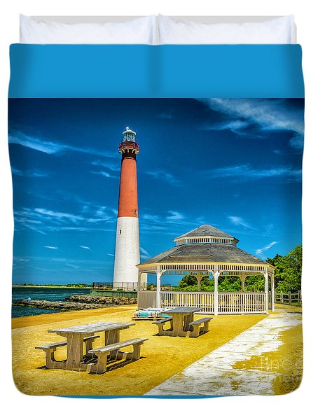 Barnegat Lighthouse Park Duvet Cover