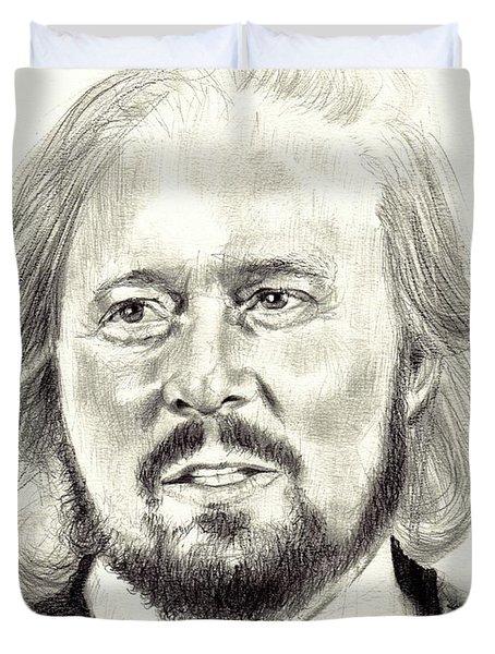 Barry Gibb Portrait Duvet Cover