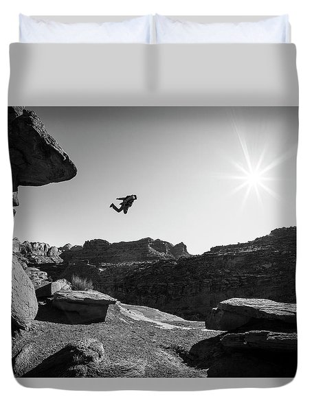 Base Jumper Duvet Cover