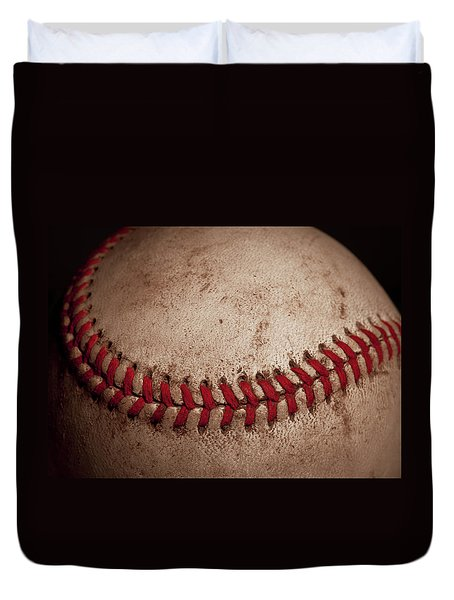 Duvet Cover featuring the photograph Baseball Seams by David Patterson