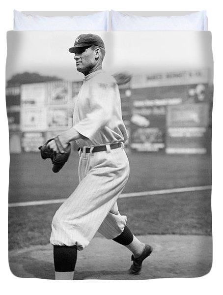 Baseball Star Walter Johnson Duvet Cover by Underwood Archives
