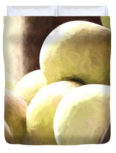 Basket Of Apples Duvet Cover