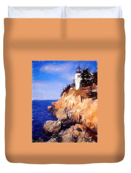 Bass Harbor Lighthouse,acadia Nat. Park Maine. Duvet Cover