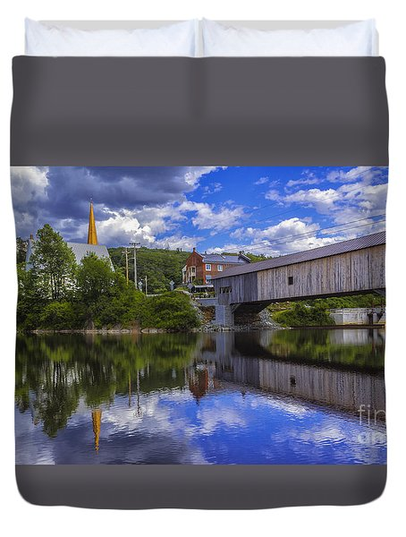 Bath Covered Bridge. Duvet Cover