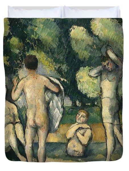 Bathers Duvet Cover by Paul Cezanne