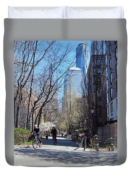 Battery Park City Ny Duvet Cover