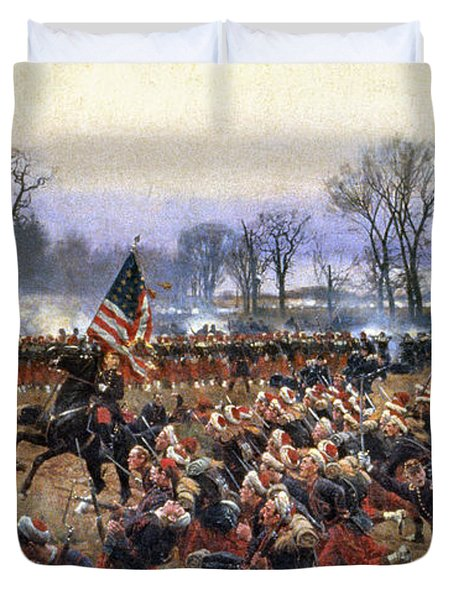 Battle Of Fredericksburg - To License For Professional Use Visit Granger.com Duvet Cover