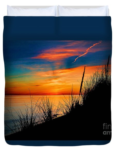 Duvet Cover featuring the photograph Grassn And Sky by Randall  Cogle