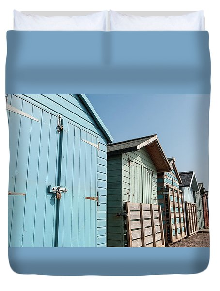 Beach Huts Vi Duvet Cover