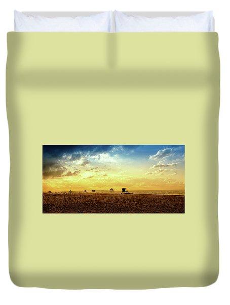 Beach Pier Duvet Cover by Joseph Hollingsworth