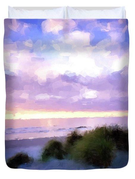 Beach Sawgrass Duvet Cover