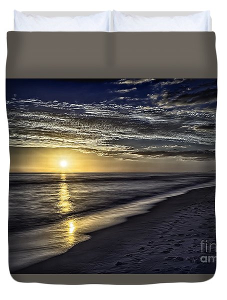 Beach Sunset 1021b Duvet Cover