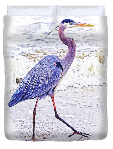 Beach Walker Duvet Cover