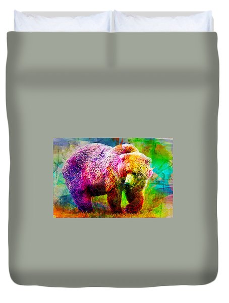 Bear Duvet Cover by Elena Kosvincheva
