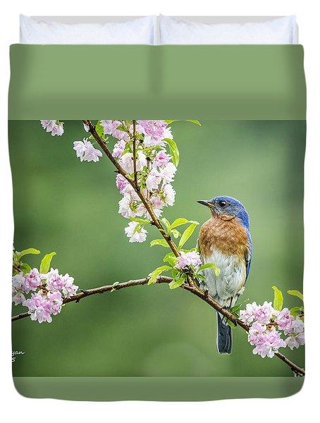Beautiful Bluebird Duvet Cover