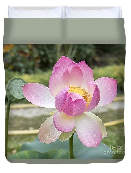 Beautiful Indian Lotus Duvet Cover