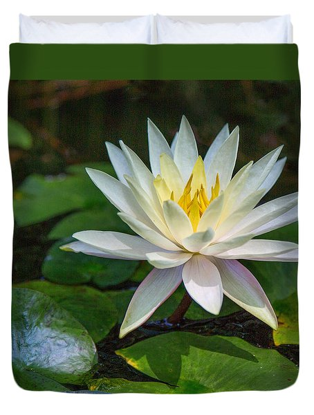 Duvet Cover featuring the photograph Beautiful Lotus by Susi Stroud