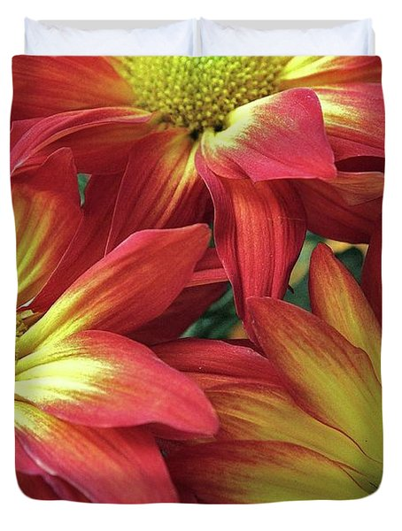 Duvet Cover featuring the photograph Beautiful Trio by Allen Beatty