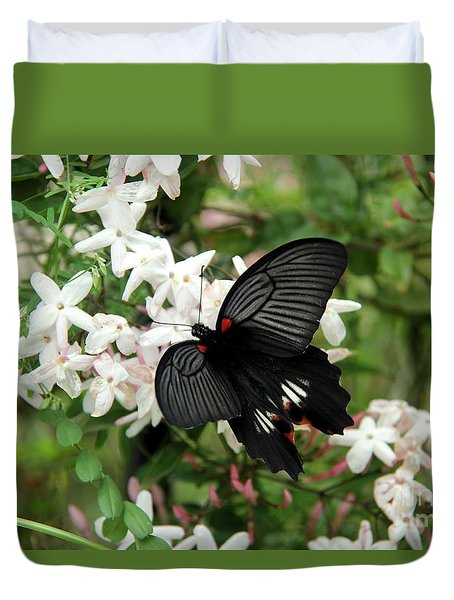 Duvet Cover featuring the photograph Beautiful Wings by Yumi Johnson