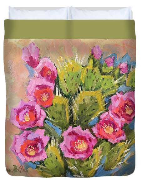 Beavertail Cactus Duvet Cover