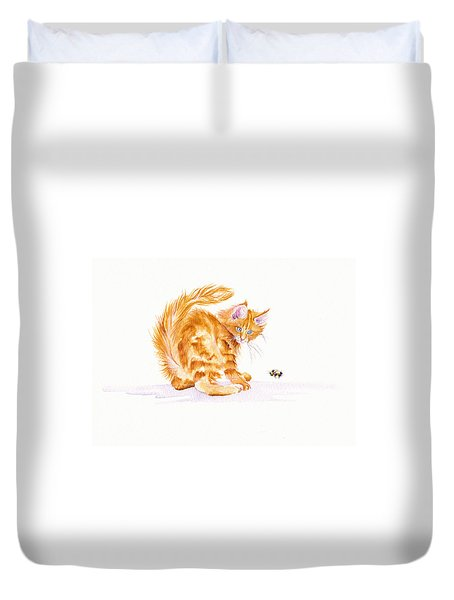 Bee Wary Duvet Cover