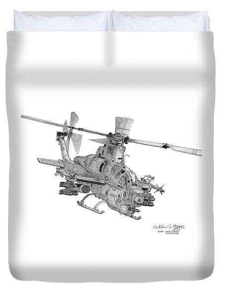 Bell Ah-1z Viper Duvet Cover by Arthur Eggers