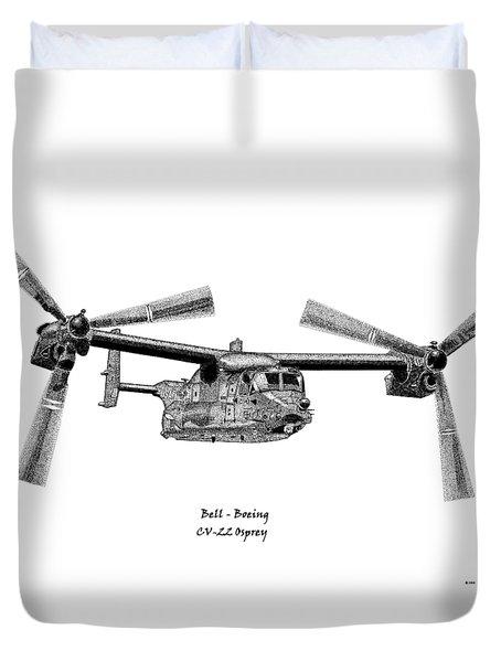 Bell Boeing Cv-22b Osprey Duvet Cover by Arthur Eggers