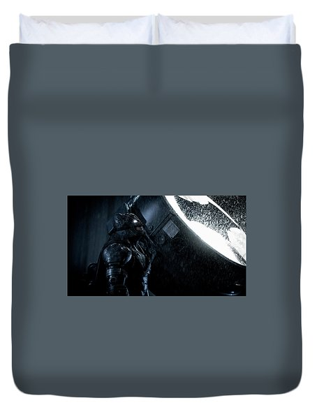 Ben Affleck As Batman Duvet Cover